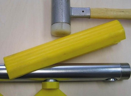 Polyurethane protection for spray pipes