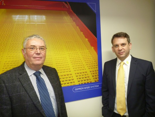 Philip Cranston (left), Managing Director of TEMA Isenmann UK and Darren Bassingthwaighte, Marketing Manager